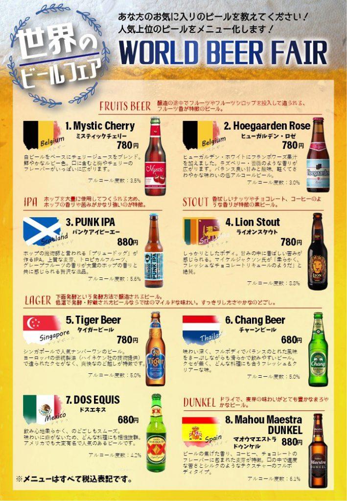 【京都長岡京】6/22~世界のビールフェアを開催!!