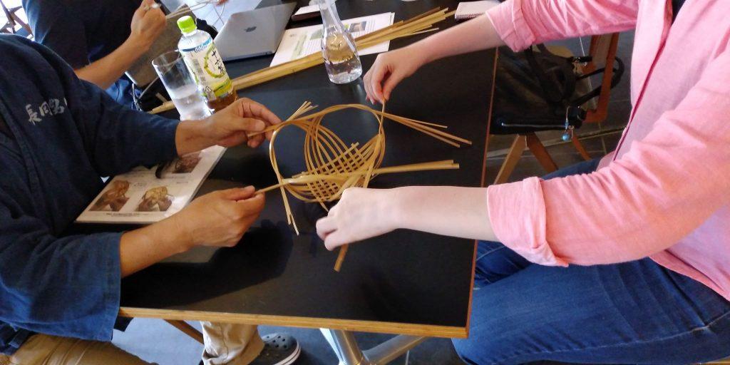 【京都長岡京】竹かご造り体験の取材をしていただきました。